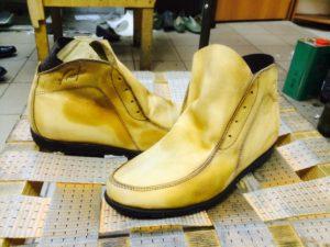 1. фото очищенной обуви
